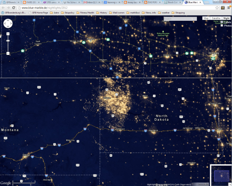 waste and light pollution in north dakota
