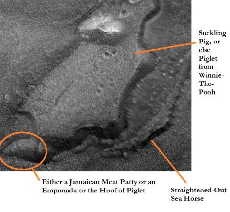 annotated images on mars