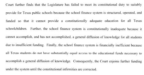 texas school financing unconstitutional