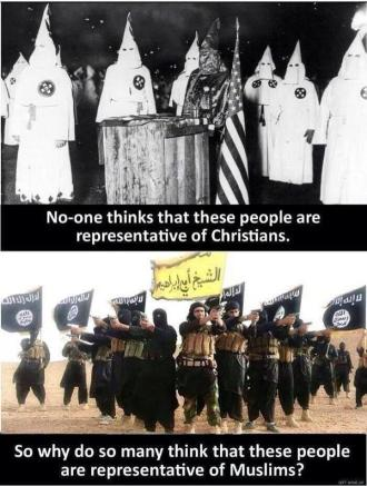 racist kkk and isis