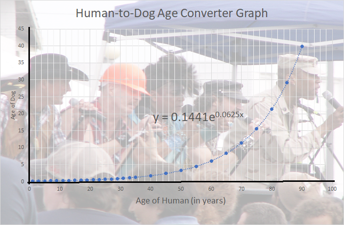 human to dog age converter graph